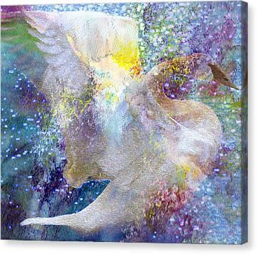 On Swan's Wings Canvas Print