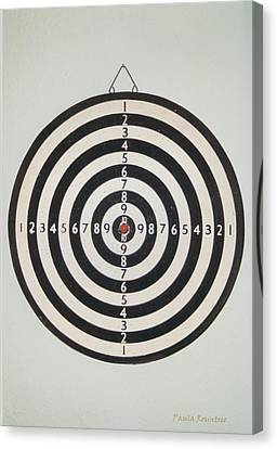 On Target Canvas Print by Paula Rountree Bischoff