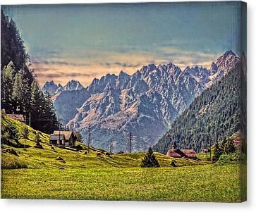 On The Alp Canvas Print