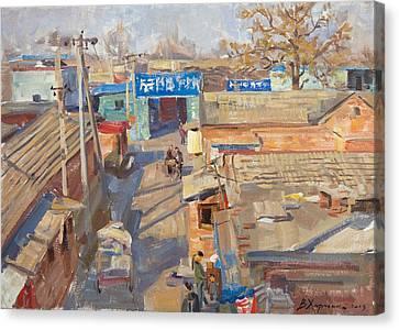 Beijing Canvas Print - On The Backyards Of Beijing by Victoria Kharchenko