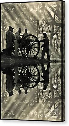 Canvas Print featuring the photograph On The Banks by Geraldine DeBoer