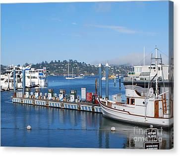 Canvas Print featuring the photograph On The Bay by William Wyckoff
