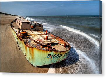On The Beach I - Outer Banks Canvas Print by Dan Carmichael