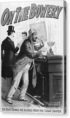 Bowery Canvas Print - On The Bowery, 1894 by Granger
