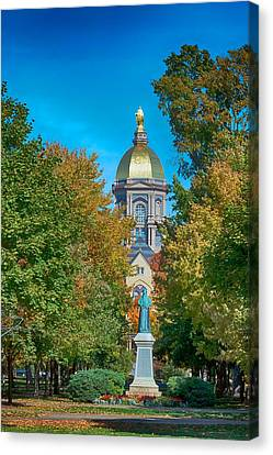 Historical Canvas Print - On The Campus Of The University Of Notre Dame by Mountain Dreams