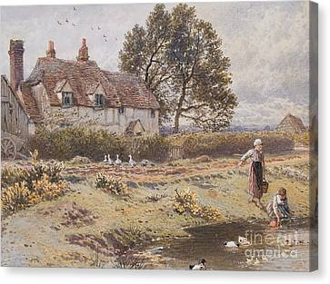 On The Common Hambledon Surrey Canvas Print