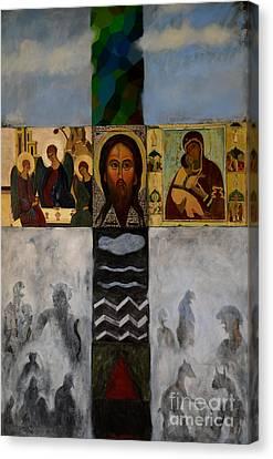 On The Cross Canvas Print by Jukka Nopsanen
