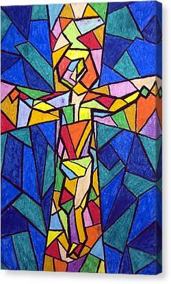 On The Cross Canvas Print by Matthew Doronila