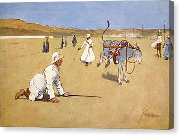 On The Dam Road, Assouan, From The Canvas Print by Lance Thackeray