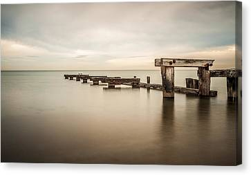 On The Dock Of The Bay Canvas Print by Shari Mattox