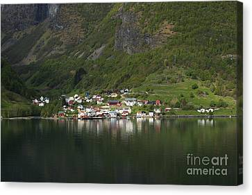 On The Edge Of The Fjord Canvas Print by Anne Gilbert