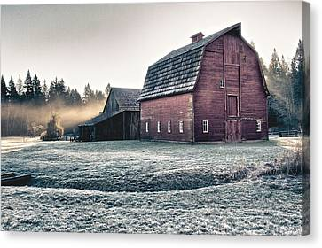 On The Farm Canvas Print by Scott Holmes