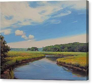 On The Gannett Canvas Print by Dianne Panarelli Miller