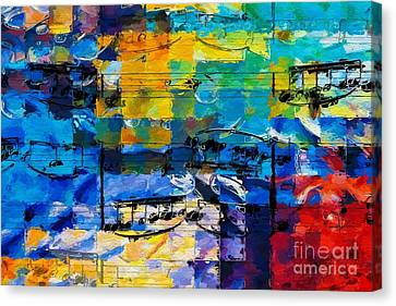 Canvas Print featuring the digital art On The Grid 2 by Lon Chaffin