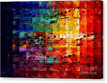 Canvas Print featuring the digital art On The Grid 3 by Lon Chaffin