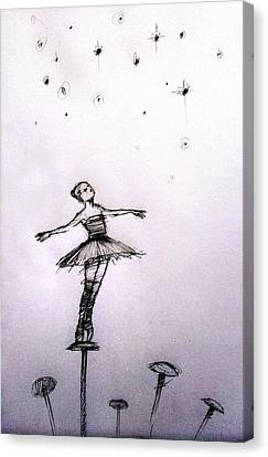 Ballerinas Canvas Print - On The Head Of A Pin by H James Hoff