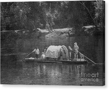 Canvas Print featuring the photograph On The James by Pete Hellmann