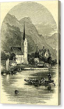 Lucerne Canvas Print - On The Lake Of Lucerne  Switzerland by Swiss School
