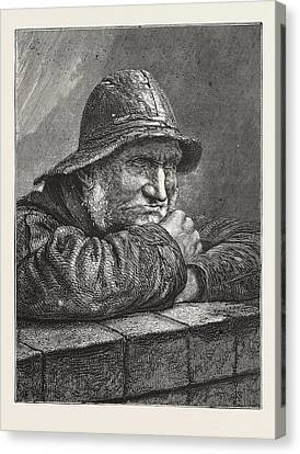 On The Look-out, Engraving 1876 Canvas Print by English School