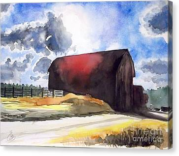 On The Macon Road. - Saline Michigan Canvas Print