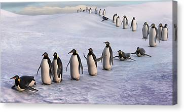 On The March Canvas Print