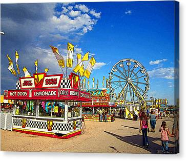 On The Midway Canvas Print by Ric Soulen