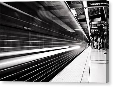 On The Move Canvas Print by Andrew Raby