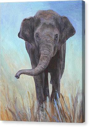 Canvas Print featuring the painting On The Move by Margaret Saheed