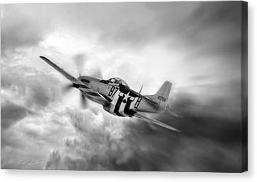 Vintage Air Planes Canvas Print - On The Move by Peter Chilelli