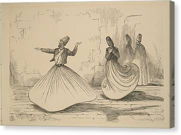 On The Nile - Shebook In The Cabin - Whirling Dervish Canvas Print by Celestial Images