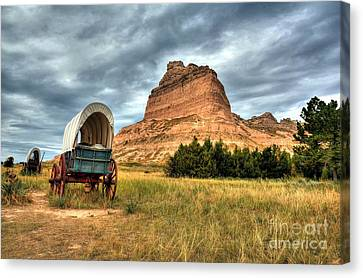 On The Oregon Trail 2 Canvas Print by Mel Steinhauer