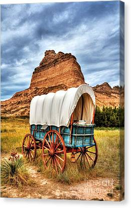 Wooden Wagons Canvas Print - On The Oregon Trail 3 by Mel Steinhauer