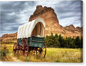 On The Oregon Trail Canvas Print by Mel Steinhauer