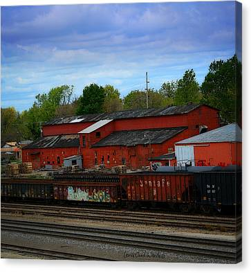 On The Other Side Of The Tracks Canvas Print