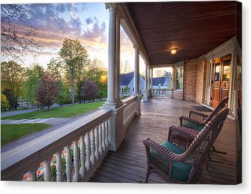 On The Porch Canvas Print by Eric Gendron