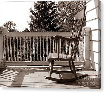 On The Porch Canvas Print by Olivier Le Queinec