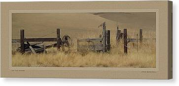 On The Range Canvas Print by John Bushnell