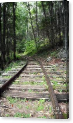 On The Right Rail Road Line Canvas Print by Doc Braham