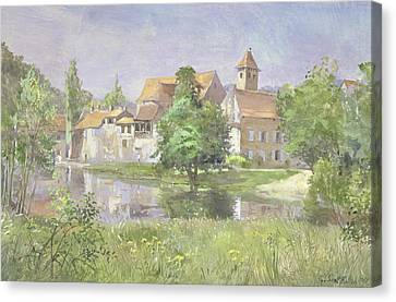 On The River Lot, 1991 Wc Canvas Print by Tim Scott Bolton