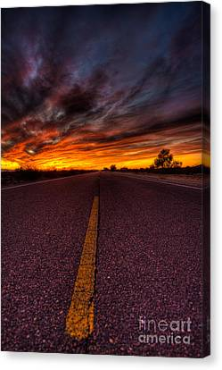 On The Road  Canvas Print by Mark Benson