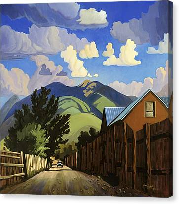 Canvas Print featuring the painting On The Road To Lili's by Art James West