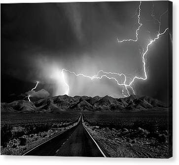 On The Road With The Thunder Gods Canvas Print by Yvette Depaepe