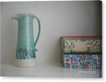 Canvas Print featuring the photograph On The Shelf.... by Lynn England