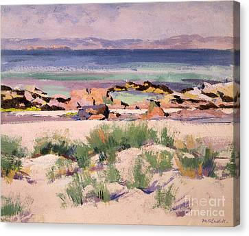Francis Canvas Print - On The Shore  Iona  by Francis Campbell Boileau Cadell