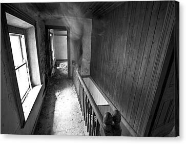 On The Stairs Canvas Print by David Hollinger