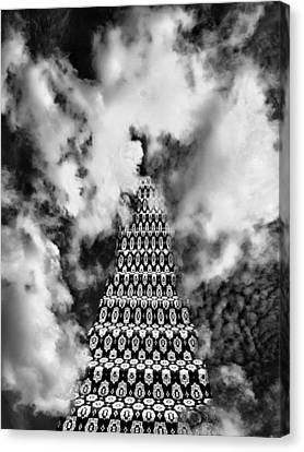 On The Stairway To Heaven Bw Palm Springs Canvas Print by William Dey
