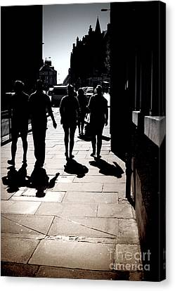 On The Street Canvas Print