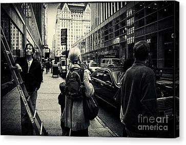 On The Streets Of New York Canvas Print by Sabine Jacobs