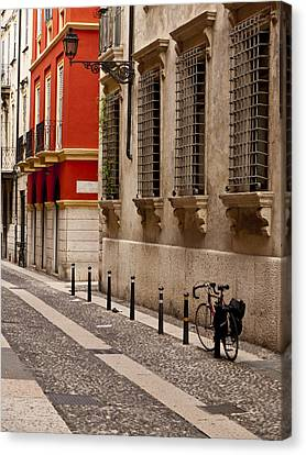On The Streets Of Verona Canvas Print by Rae Tucker