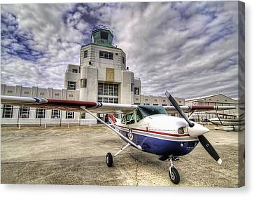 On The Tarmac Canvas Print by Tim Stanley